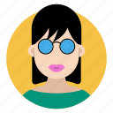 avatar, female, girl, stylish girl, stylish lady icon