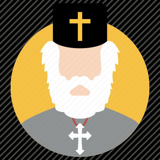 church father, churchman, clergyman, pastor, priest icon