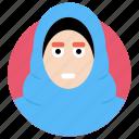 arab woman, islamic girl, islamic lady, muslim girl, muslim woman icon