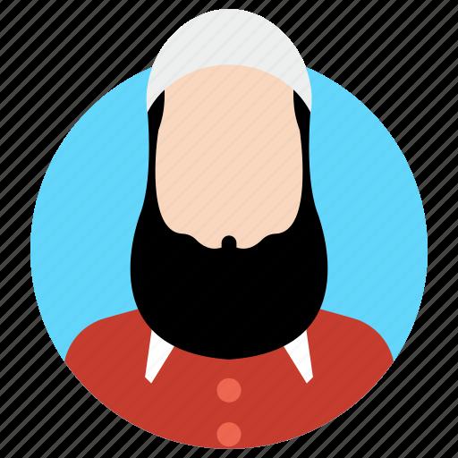 islamic erson, islamic man, muslim male, muslim man, muslim person icon