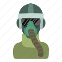 cartoon, green, helmet, logo, man, military, uniform icon