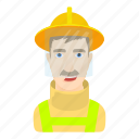 cartoon, fisher, hat, head, sailor, seaman, shipping icon