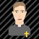 cartoon, catholicism, christian, god, human, preacher, priest icon
