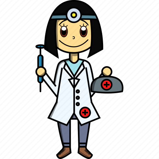 doctor, female, girl, hospital, proffesions, sick, woman icon
