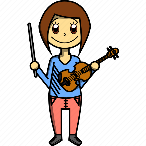 artist, girl, proffesions, singer, violin, woman icon