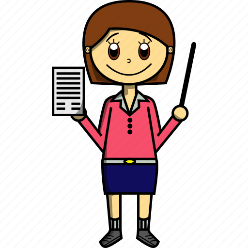 College, girl, proffesions, school, study, teacher, woman icon - Download on Iconfinder