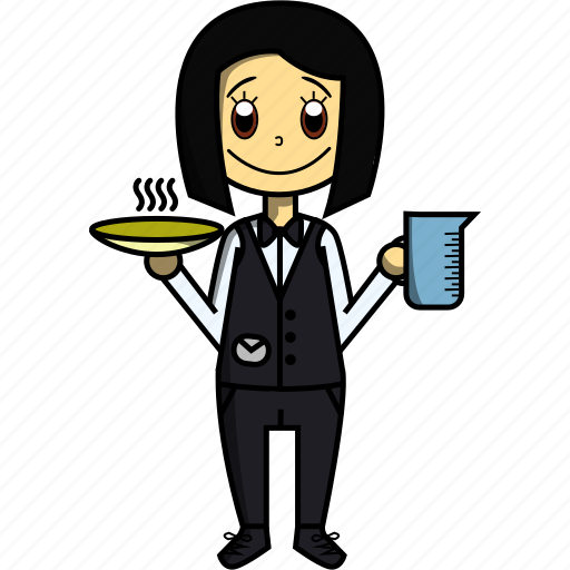 Food, girl, proffesions, restaurant, waitress, woman icon - Download on Iconfinder