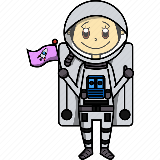 Astronaut, girl, nasa, proffesions, rocket, woman icon - Download on Iconfinder