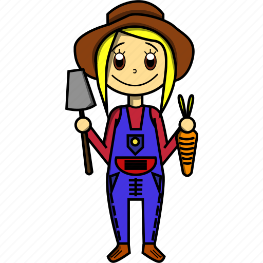 Carrots, farmer, food, girl, proffesions, woman icon - Download on Iconfinder