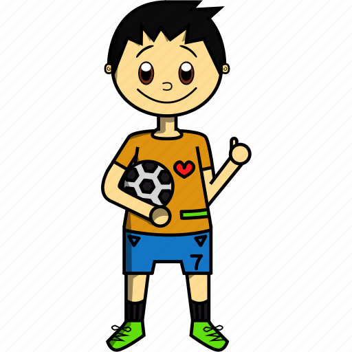 Ball, boy, man, player, proffesions, soccer, sports icon - Download on Iconfinder