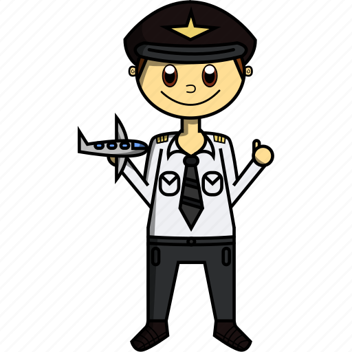Airplane, boy, fly, man, pilot, plane, proffesions icon - Download on Iconfinder