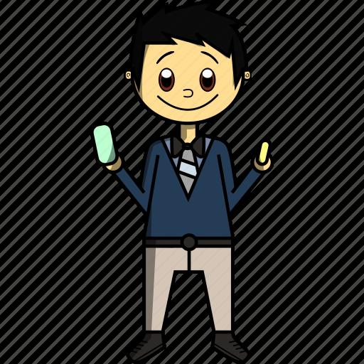Boy, college, man, proffesions, school, teacher, university icon - Download on Iconfinder