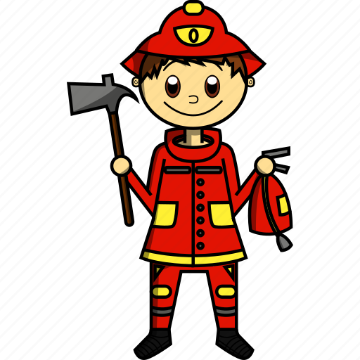 Boy, fire, fireman, house, man, proffesions icon - Download on Iconfinder