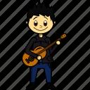 artist, boy, guitar, guitarrist, man, proffesions, singer icon