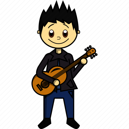 Artist, boy, guitar, guitarrist, man, proffesions, singer icon - Download on Iconfinder