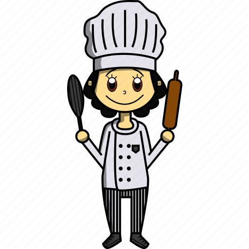 chef, delicious, food, girl, proffesions, restaurant, woman icon