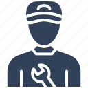 mechanic, plumber, plunger, repairman, worker icon