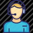 call center agent, customer representative, customer service, customer support icon
