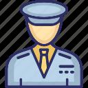airline pilot, captain, driver, pilot, taxi driver icon
