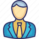 accountant, avatar, business person, businessman, executive icon