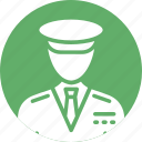 airline pilot, captain, driver, pilot, taxi driver icon