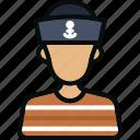 avatar, captain, man, marine, profession, sailor, user icon