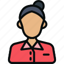 avatar, girl, librarian, people, professional, professions, user icon