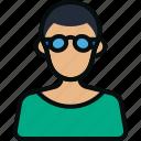 art, avatar, designer, employee, graphics, male, man icon