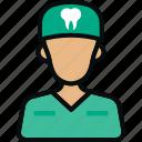 avatar, checkup, dental, dentist, man, profession, surgeon icon
