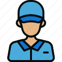 avatar, boy, courier, delivery, delivery man, guy, man icon