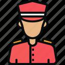 avatar, doorkeeper, doorman, man, porter, servant, steward icon
