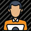 avatar, developer, entrepreneur, man, person, programmer, technologist icon