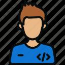 avatar, coding, computer, it, laptop, profile, programmer icon