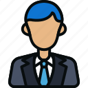 avatar, businessman, employee, male, manager, worker