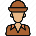 archaeologist, avatar, character, explorer, occupation, person, professional icon
