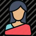 avatar, buddhism, hindu, indian, lady, saree, woman icon