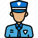 avatar, guard, military, officer, police, police car, security icon