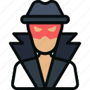 avatar, burglar, crime, criminal, hacker, robber, thief icon