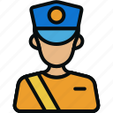 communication, email, letter carrier, mail, mailman, postboy, postman icon