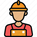 avatar, employee, laborer, labourer, servant, worker, workman icon