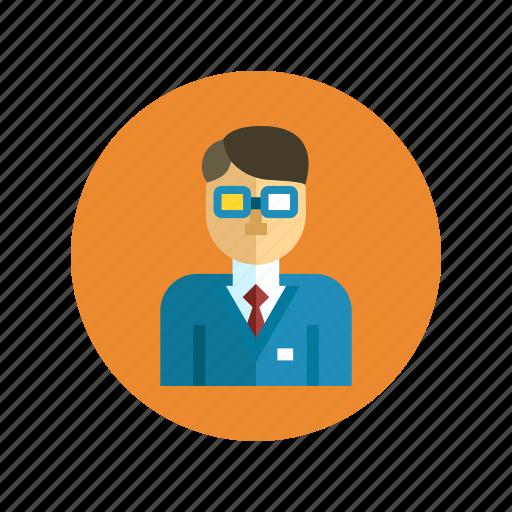 boss, business, businessman, employer, entrepreneur, staff, team icon