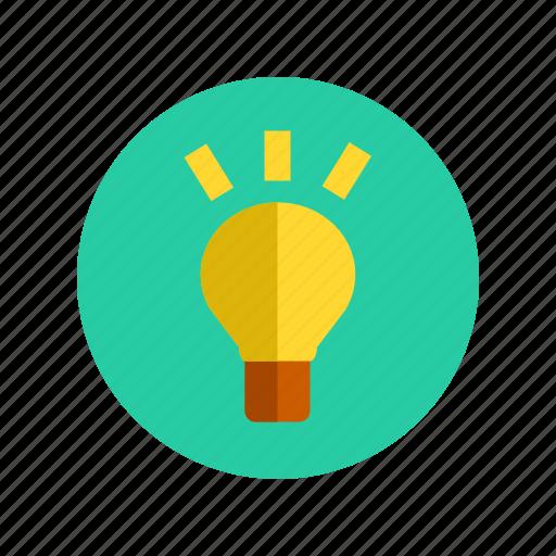 bulb, creative, idea, innovation, innovative, knowledge, think icon