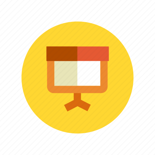 board, learning, lecture, present, presentation, study, training icon