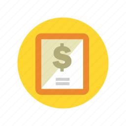 banking, bill, cheque, finance, payment, quotation, receipt icon