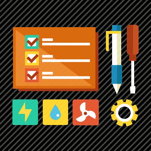 check, checklist, design, engineer, preparation, prepare, professional icon