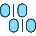 binary, bits, code, matrix, programming icon