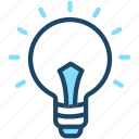 bulb, electric, energy, idea, light icon