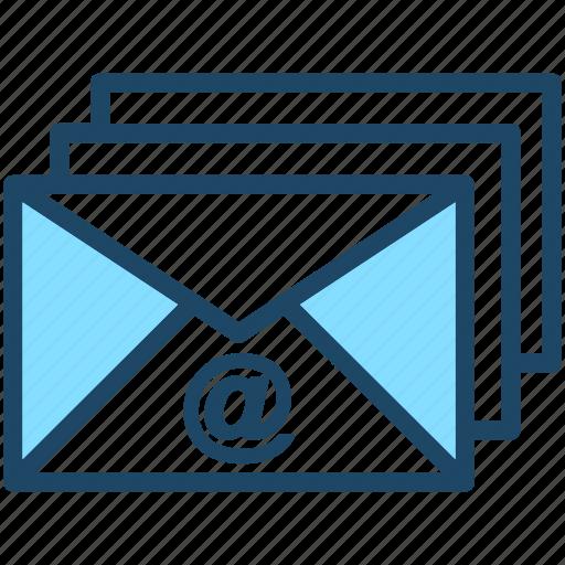 emails, envelopes, letters, mails, messages icon