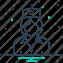 avatar, female, medical, nurse, sister icon