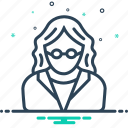 female, school, teacher icon